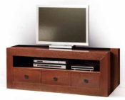 MUEBLE DE TV PLAY ROBLE 3 CAJONES
